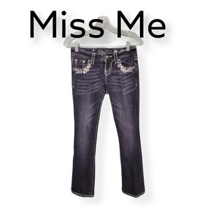 Miss Me Easy Boot Cut Jeweled Jeans Size 24
